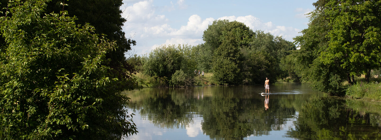 Bild von der Nidda bei Eschersheim